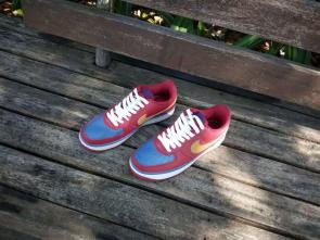 nike air force 1 avec lacet nike  blue plum red